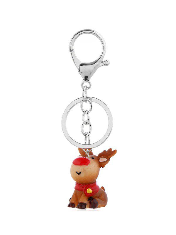 Outfits Christmas Cartoon Deer Keychain