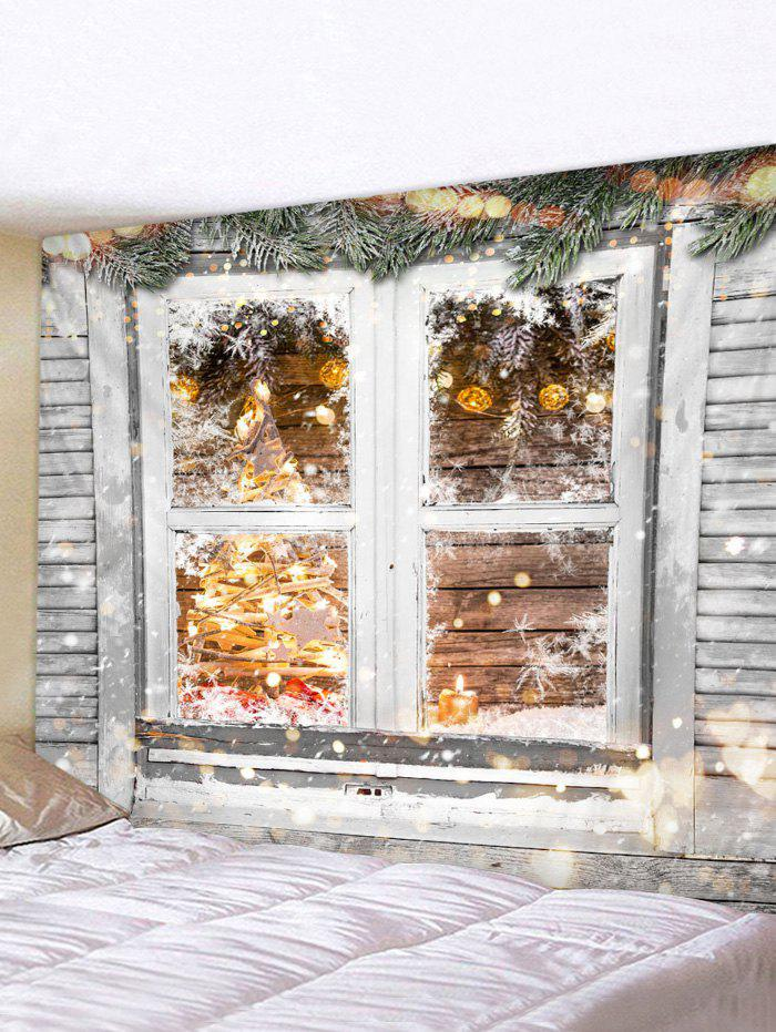 Christmas Window Wooden Printed Tapestry фото