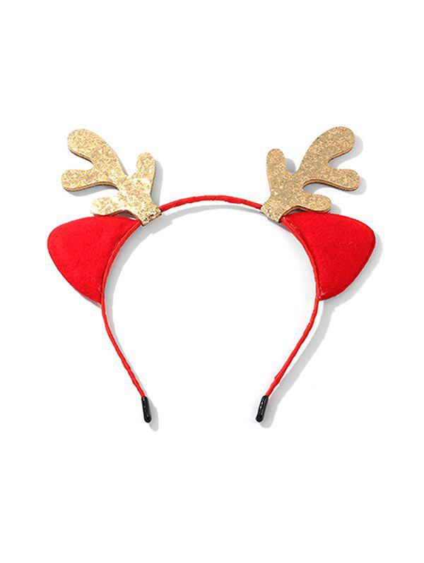 Discount Christmas Sparkly Antlers Shape Hair Band