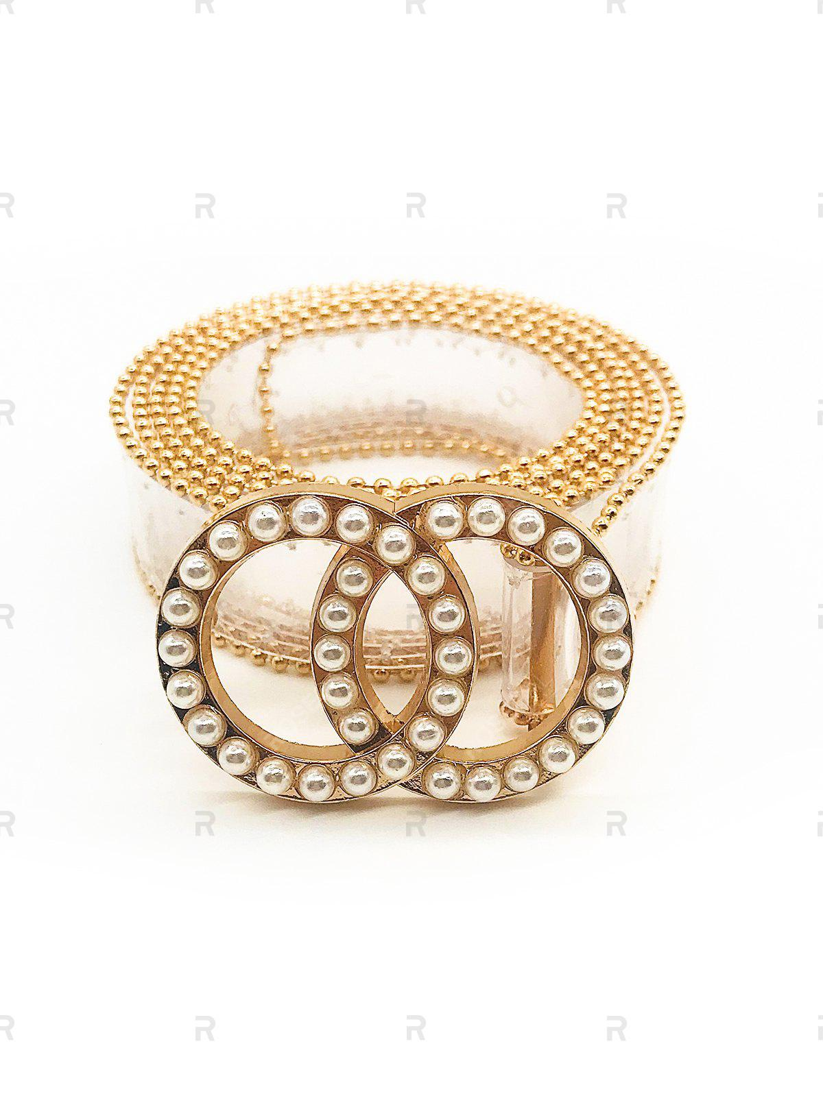 Affordable Artificial Pearl Round Shape Beaded Belt