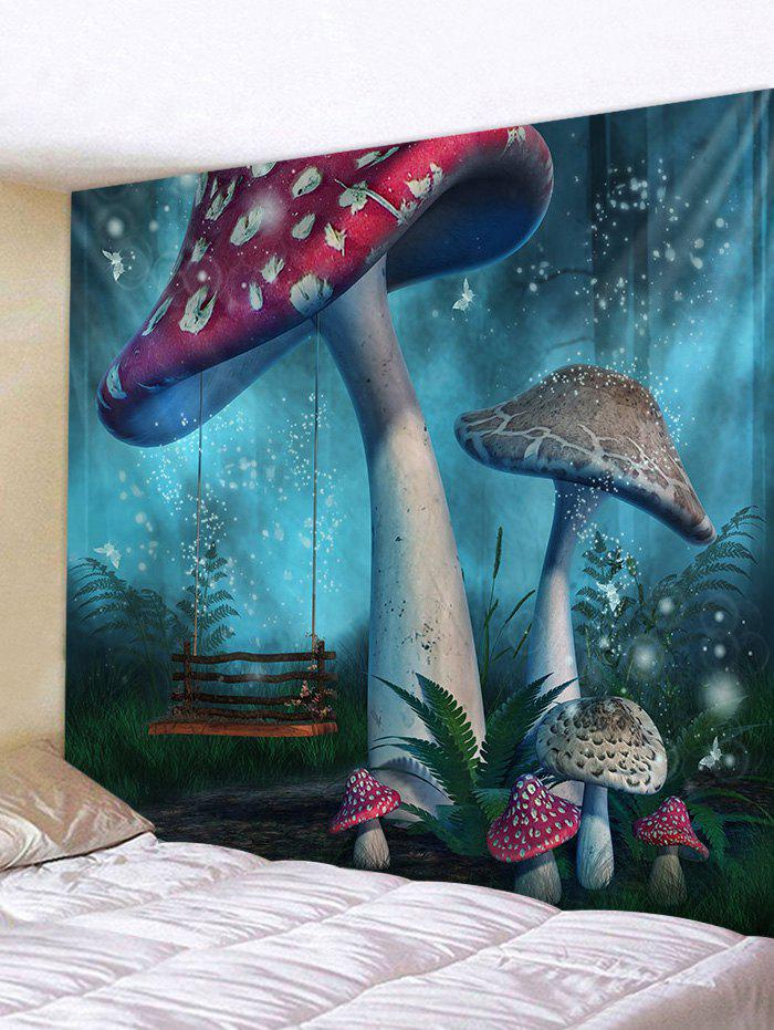 Unique Abstract Mushroom Printed Tapestry