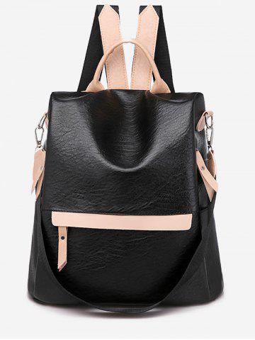 Jointed Soft Leather Backpack