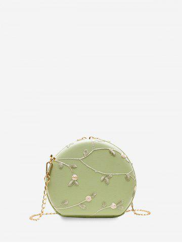 Round Lace Embroidered Shoulder Bag