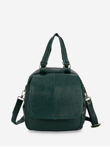 Solid Leather Casual Backpack