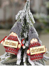 Christmas Ornaments Knitted Hanging Dolls -