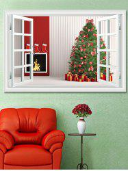 Christmas Tree Gifts Window Print Decorative Wall Art Sticker -