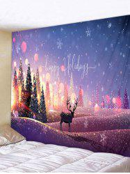 Christmas Trees Elk Print Tapestry Wall Hanging Art Decoration -