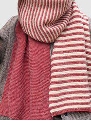 Contrast Striped Long Wrap Scarf -
