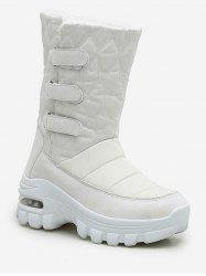 Quilted Hook Loop Mid Calf Snow Boots -