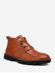 Sewing Faux Leather Casual Ankle Boots -