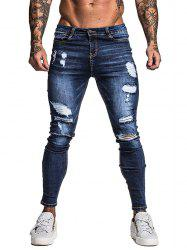 Détruit Ripped Zip Fly Jeans Casual -