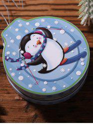 Christmas Pattern Hanging Metal Candy Box -