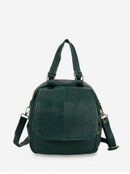 Solid Leather Casual Backpack -