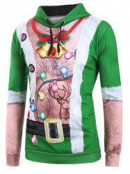 Ugly Chest Hair Print Front Pocket Christmas Hoodie -