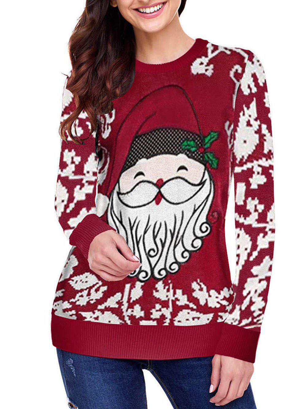 Outfit Christmas Santa Claus Longline Pullover Sweater