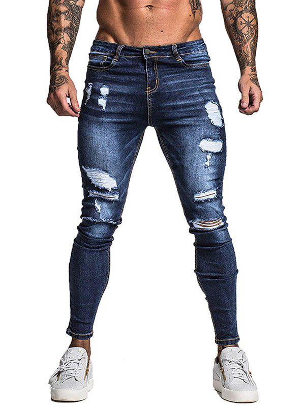Détruit Ripped Zip Fly Jeans Casual