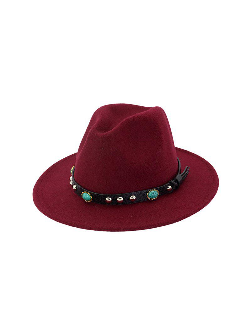 Rivet Floppy Solid Winter Fedora Hat