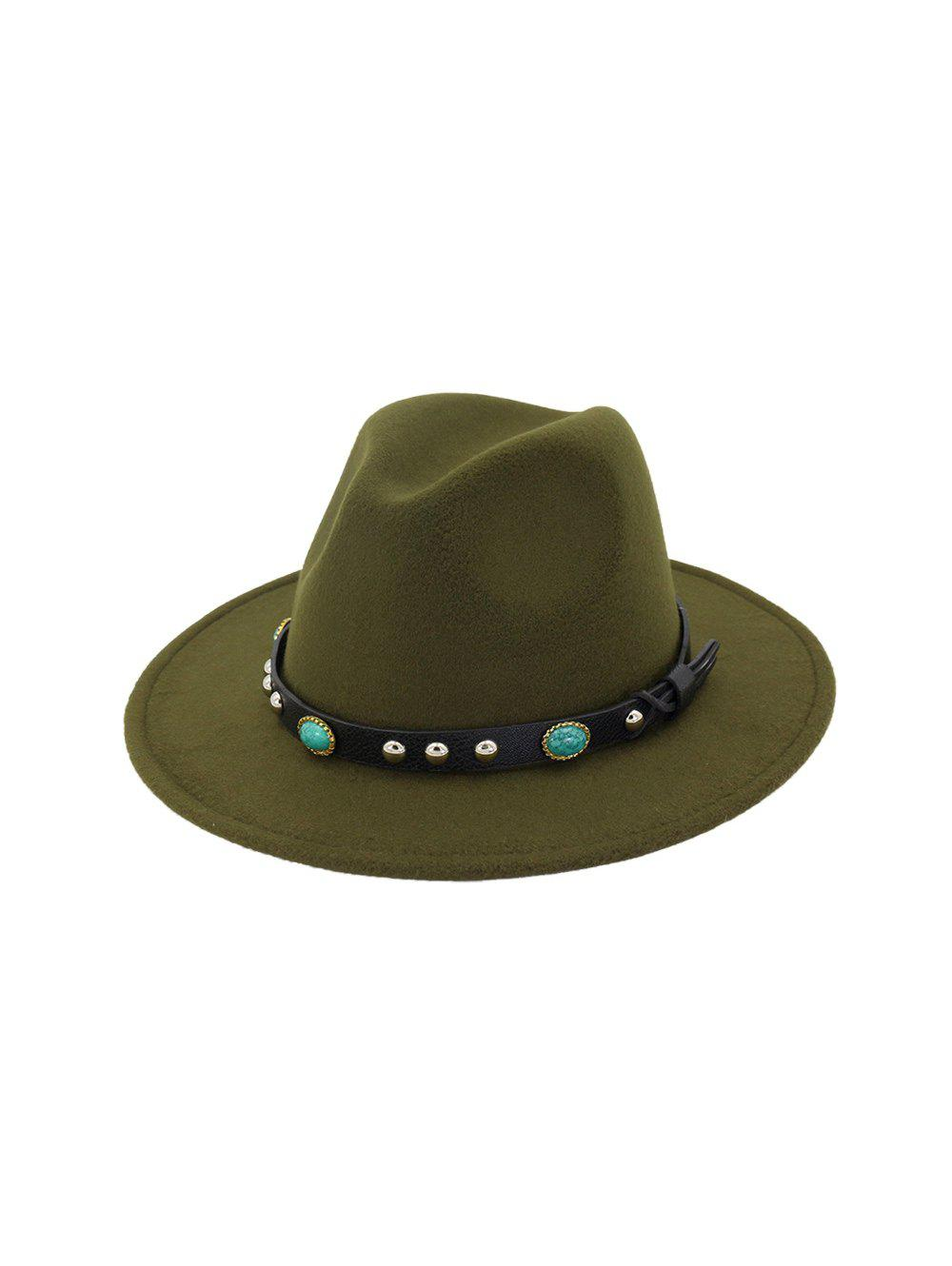 Store Rivet Floppy Solid Winter Fedora Hat