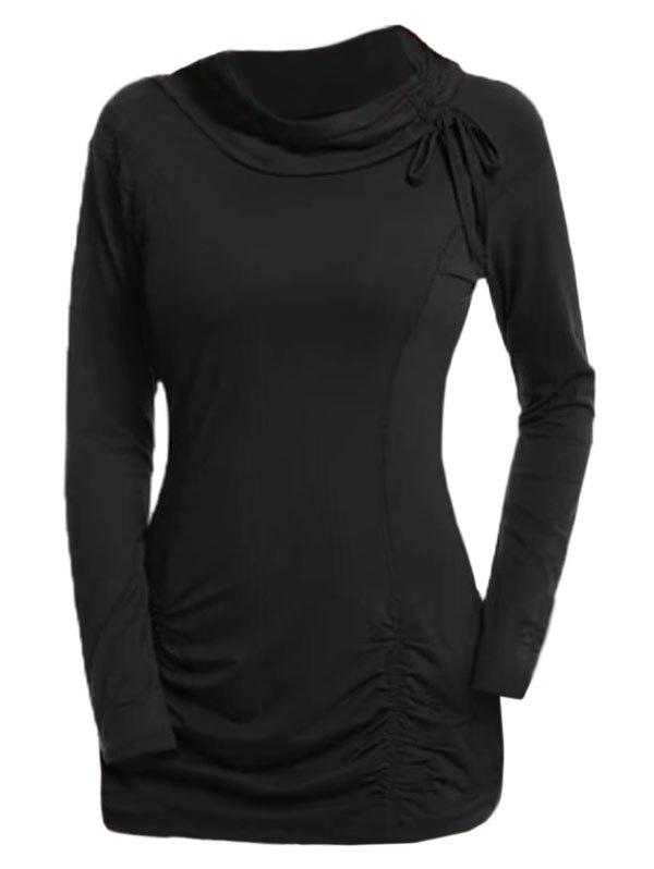 Plus Size Ruched Cinched Tunic T Shirt фото