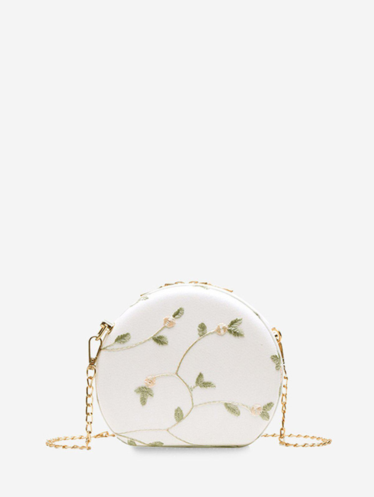 New Round Lace Embroidered Shoulder Bag