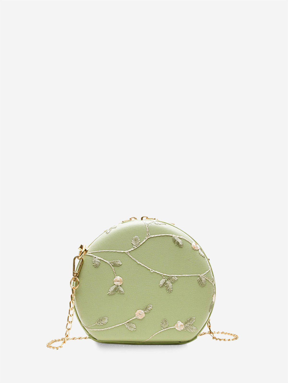 Trendy Round Lace Embroidered Shoulder Bag