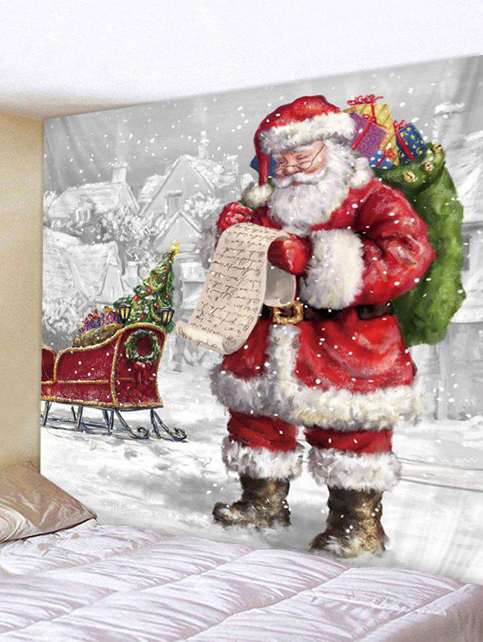 Fancy Christmas Santa Claus Sleigh Print Tapestry Wall Hanging Art Decoration
