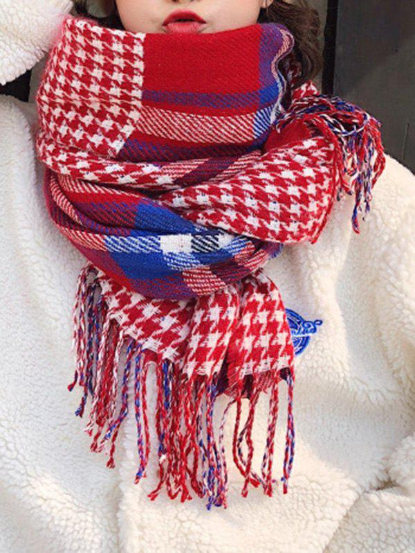 Outfits Plaid Tassel Long Wrap Scarf