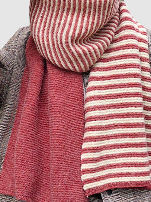 Discount Contrast Striped Long Wrap Scarf
