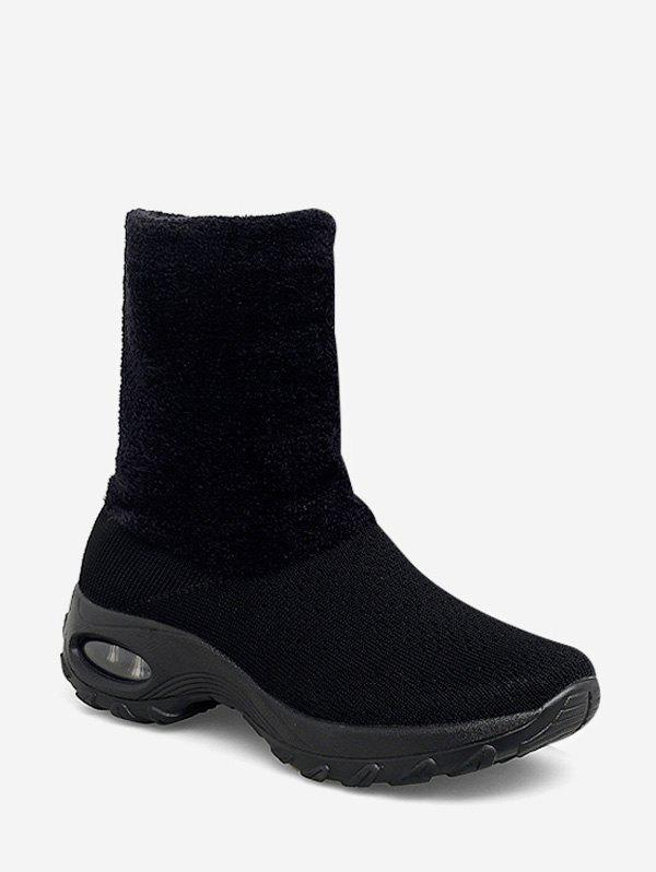 Shops Fuzzy Panel Slip On Casual Platform Boots