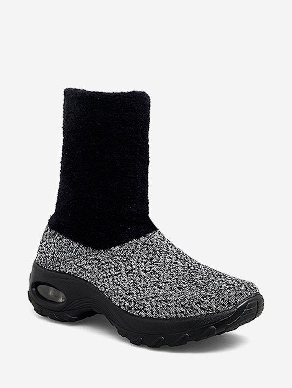 Best Fuzzy Panel Slip On Casual Platform Boots