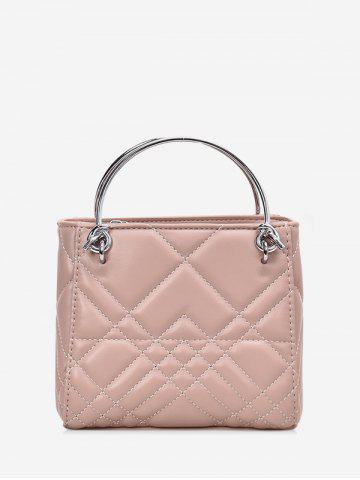 Square Quilted Metal Handbag