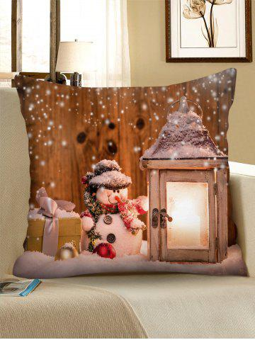 Christmas Snowman Pattern Pillow Cover - from $6.05