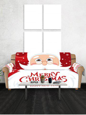 Father Christmas Couch Cover - RED WINE - TWO SEATS
