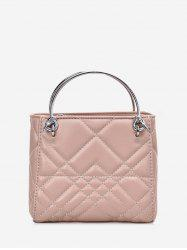 Square Quilted Metal Handbag -