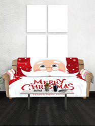 Father Christmas Couch Cover -