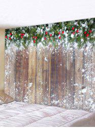 Christmas Wooden Printed Tapestry -