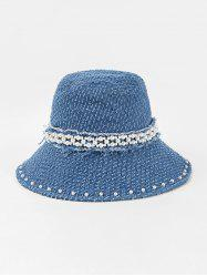 Floppy Pearls Jeans Hat -