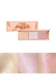 3 Colors Highlight Glitter Eyeshadow Palette -
