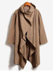 Solid Color Casual Trench Coat -