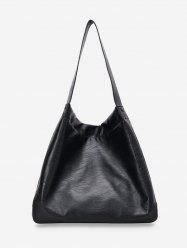 Solid Big Soft Leather Shoulder Bag -