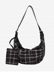 Plaid Dumpling Shape Single Shoulder Bag -