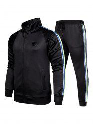 Striped Two Piece Gym Outfits -