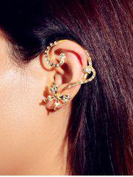 Asymmetric Rhinestone Butterfly Stud Earrings -