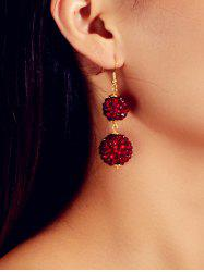 Rhinestone Ball Drop Hook Earrings -