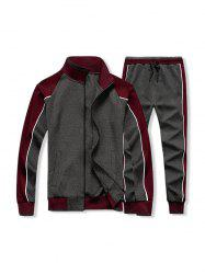 Colorblock Two Piece Gym Outfits -