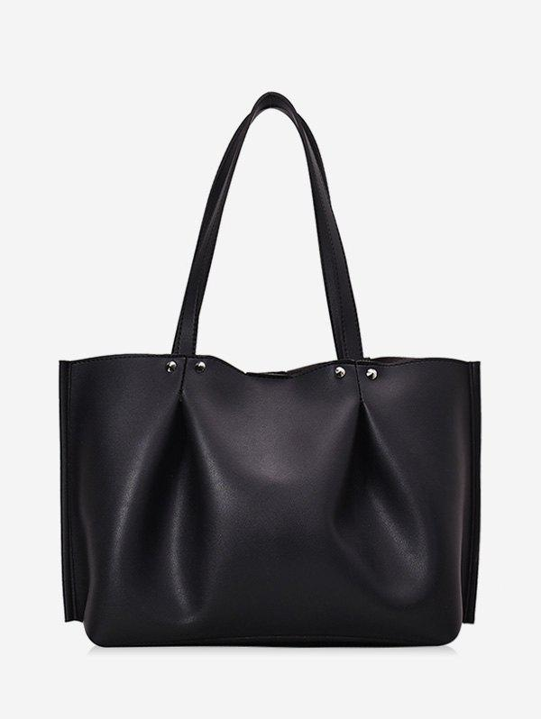 Store Pleated PU Leather Large Capacity Shoulder Bag