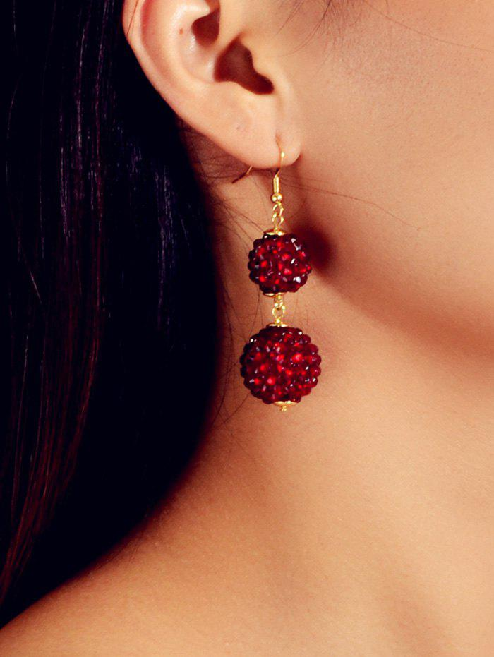 Fashion Rhinestone Ball Drop Hook Earrings