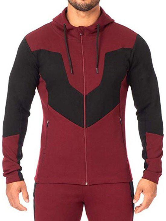 Shops Color Blocking Zip Up Hooded Sweatshirt