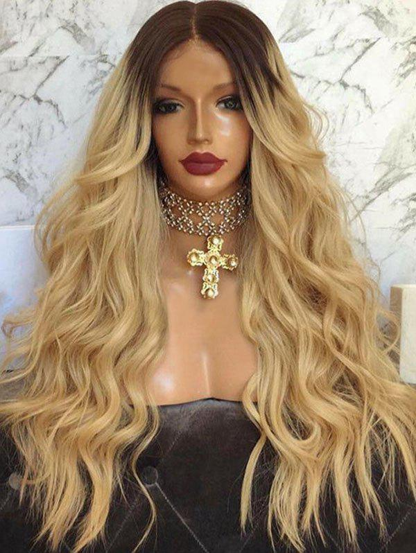 Shops Long Middle Parting Ombre Wavy Capless Synthetic Wig