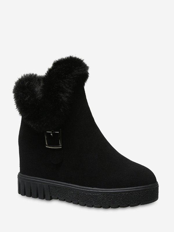 Unique Fuzzy Trim Increased Internal Snow Boots